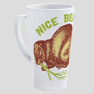 Nice Beaver 17 oz Latte Mug