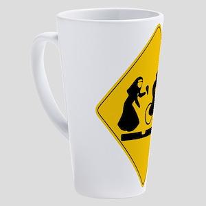 Bad Nuns Bicycle 17 oz Latte Mug