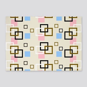 Cube Square 5'x7'Area Rug