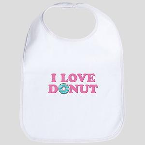 I Love Donut Baby Bib