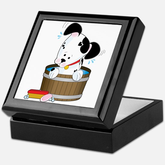 Doggie Bath Keepsake Box