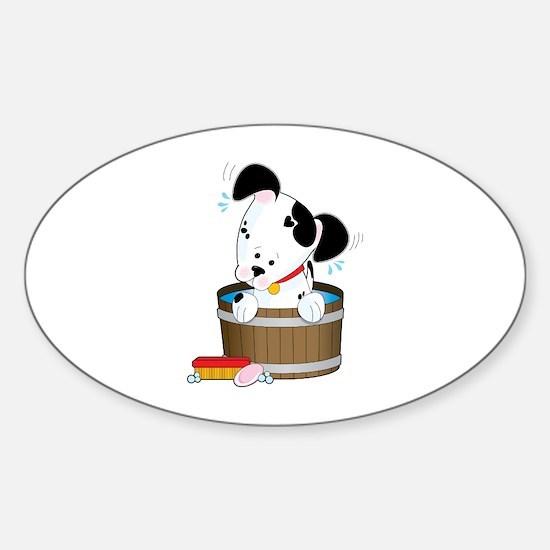 Doggie Bath Oval Decal