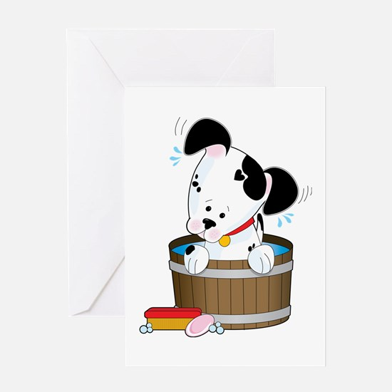 Doggie Bath Greeting Card