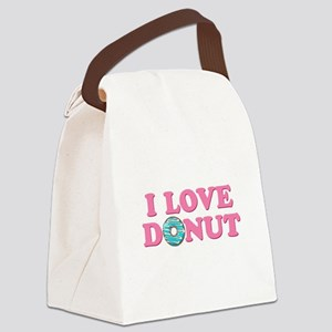 I Love Donut Canvas Lunch Bag