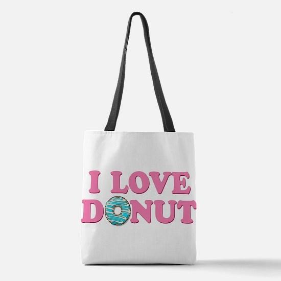 I Love Donut Polyester Tote Bag