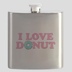 I Love Donut Flask