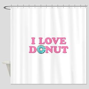 I Love Donut Shower Curtain