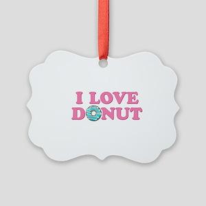 I Love Donut Picture Ornament