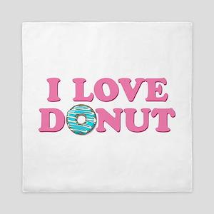 I Love Donut Queen Duvet