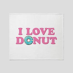I Love Donut Throw Blanket