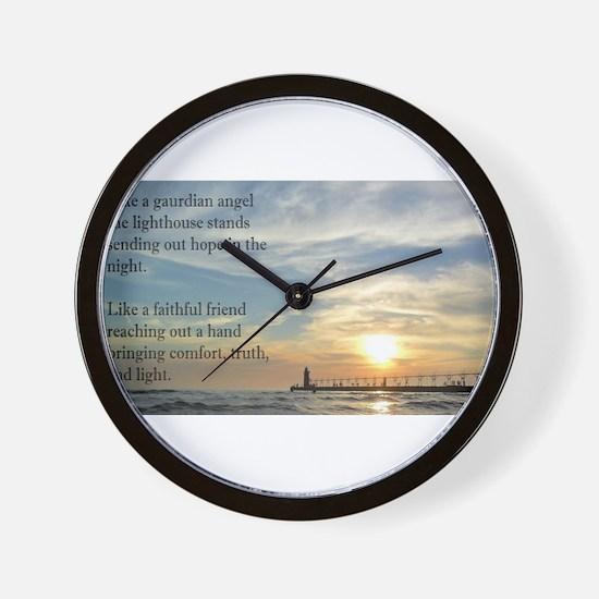 Lighthouse, friend Wall Clock