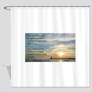 Lighthouse, friend Shower Curtain