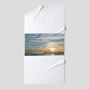 Lighthouse, friend Beach Towel