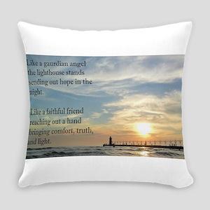 Lighthouse, friend Everyday Pillow