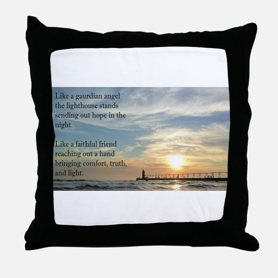 Lighthouse, friend Throw Pillow