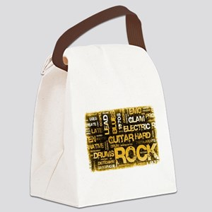 Rock Music Party Canvas Lunch Bag