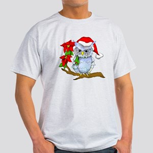 Snowy Holiday Owl Light T-Shirt