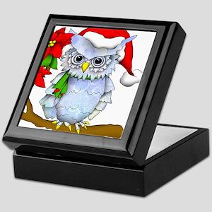 Snowy Holiday Owl Keepsake Box