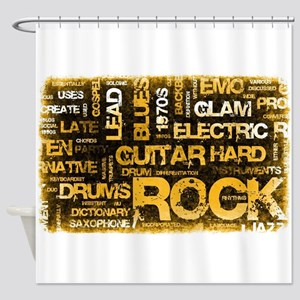 Rock Music Party Shower Curtain