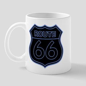 Route 66 Neon - Blue Mug