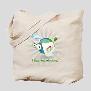 Reduce, reuse, recycle Funny earth Tote Bag