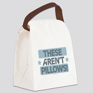 These Aren't Pillows - Blue Canvas Lunch Bag