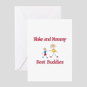 Blake & Mommy - Buddies Greeting Card