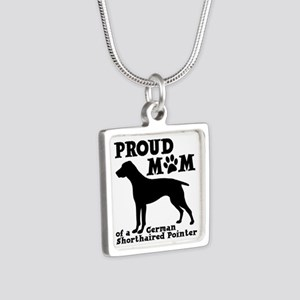 POINTER MOM Silver Square Necklace