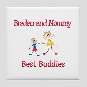 Braden & Mommy - Buddies Tile Coaster