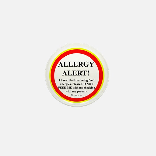 Food Allergy Alert Mini Button