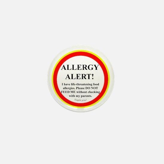 Food Allergy Alert Mini Button (10 pack)