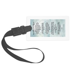 Crossing Over Prayer Luggage Tag