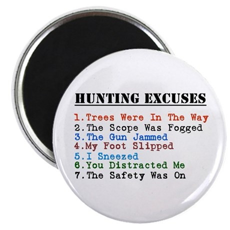 Huntingexcuses Magnets