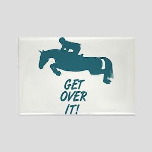 Get Over It Hunter Jumper Horse Rectangle Magnet