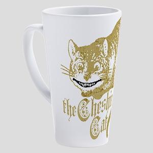 cheshire-cat_dark 17 oz Latte Mug