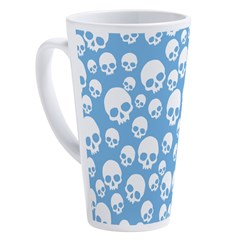Random-Skull-Pattern_wh2 17 Oz Latte Mug