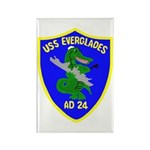 USS Everglades (AD 24) Rectangle Magnet (100 pack)