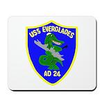 USS Everglades (AD 24) Mousepad