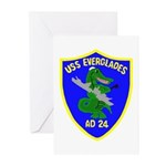 USS Everglades (AD 24) Greeting Cards (Pk of 10)