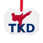 Taekwondo Picture Ornament