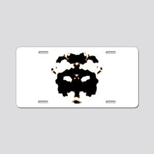 Rorschach Test Aluminum License Plate