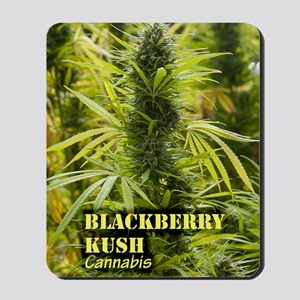 Blackberry Kush (with name) Mousepad