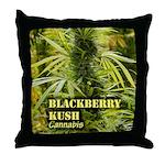Blackberry Kush (with name) Throw Pillow