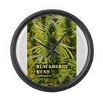 Blackberry Kush (with name) Large Wall Clock