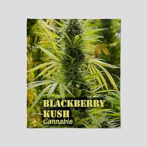 Blackberry Kush (with name) Throw Blanket