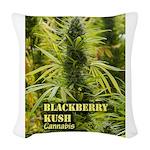 Blackberry Kush (with name) Woven Throw Pillow