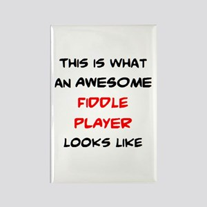 awesome fiddle player Rectangle Magnet
