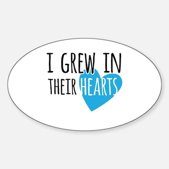 Unique Adoption children Sticker (Oval)