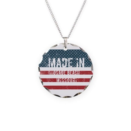 Made in Osage Beach, Missour Necklace Circle Charm