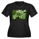 Pineapple Women's Plus Size V-Neck Dark T-Shirt